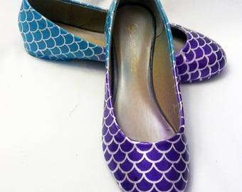 Airbrush Flats / Mermaid Flats / Wedding Shoes / Airbrush Ombre Shoes / Wedding Flats / Women's Flats / Women's Shoes / Mermaid Airbrush