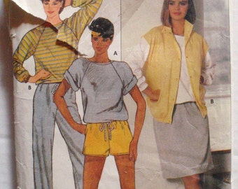 Women's Sportswear Sewing Pattern - Vest, Top, Skirt, Shorts and Pants - Butterick 6692 - Sizes 6-8-10, Bust 30 1/2 - 32 1/2