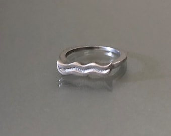 "Vintage Sterling Silver ""Mustache"" Ring"