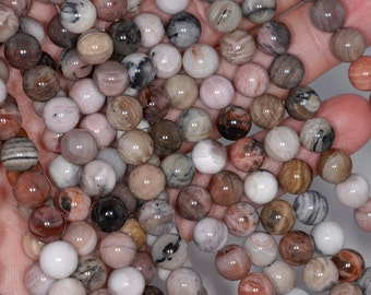 8mm Petrified Wood Agate Gemstone Grade AA Brown Round 8mm Loose Beads 15.5 inch Full Strand  BULK LOT 1,2,6,12 and 50 (80000393-785)