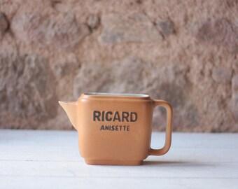 Pot à eau en céramique Ricard Anisette carré Vintage Français, pichet Pastis, Etat neuf / cadeau pour lui / meilleur ami cadeau / cadeau pour elle