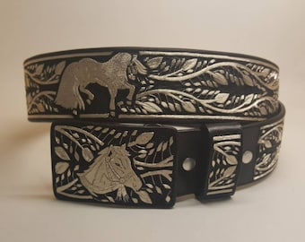 Beautiful handmade belt 100% hand embroidered with silver thread. Size 38