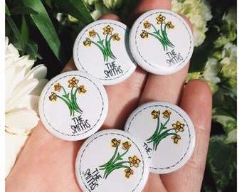 The Smiths Daffodil Logo 25mm Button Badge