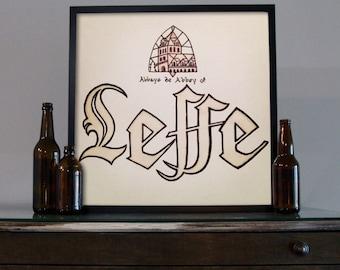 Beer Art - Craft Beer Art - Beer Painting - Leffe Beer Art