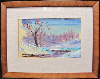 Original Oil Painting Chicago Artist Howard Karmele Signed and Framed