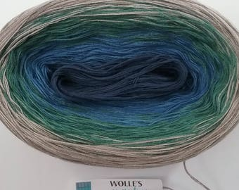 PLANET II -- 150 gr/720 yards -- Color Changing Cotton yarn --  Fingering Weight