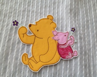 Pooh and Piglet Inspired Iron on Appliqué