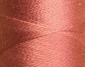 Shell, Silk Machine Threads, 100% Mulberry Silk, Plain Dyed, Luxury Silk Threads, Spun Silk, Solid Colours, 300m, 325yds