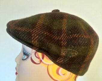 Vintage Kangol plaid tweed wool beret cap