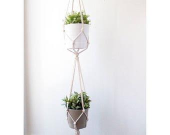Macrame Plant Hanger, Hanging Planter, Indoor