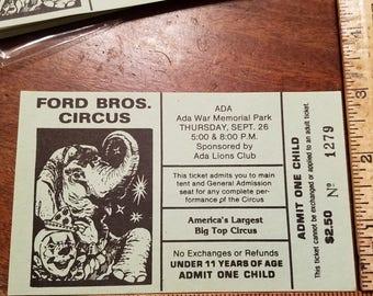 Vintage Circus Tickets/20 piece lot