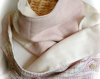 snood / scarf Pink / White