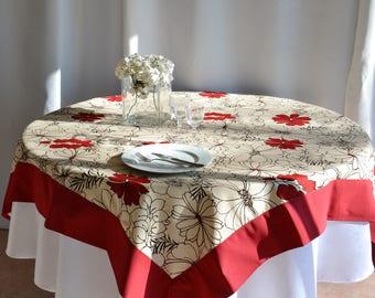 Tablecloth square cotton linen 160 x 160