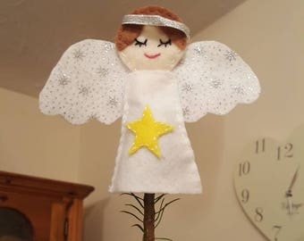 Handmade felt Angel Christmas Tree topper