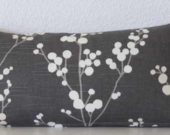 Mini lumbar pillow cover - 8x16 - Asian Floral - lumbar pillow case