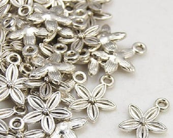 10pcs Tibetan Style Pendant, Antique Silver, 13.5mm long, 10.5mm wide, 3mm thick hole: 1.5mm