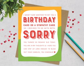 Funny Birthday Greeting Card - Old Joke Birthday Card - Happy Birthday Card