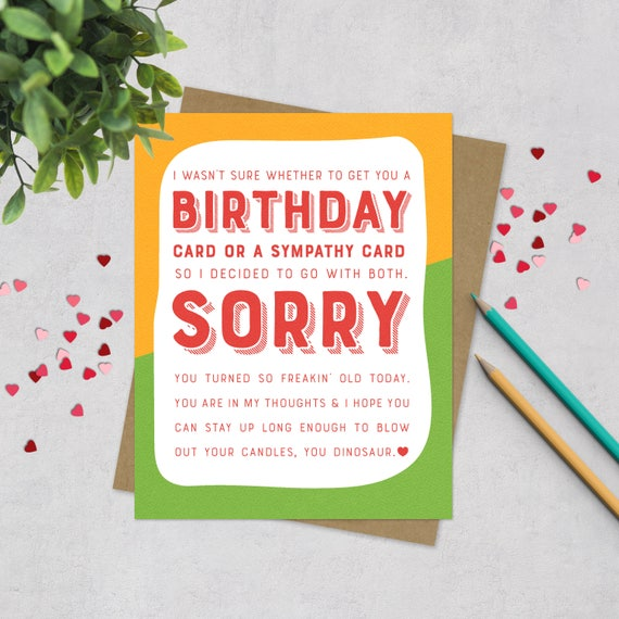 Funny birthday greeting card old joke birthday card happy bookmarktalkfo Image collections