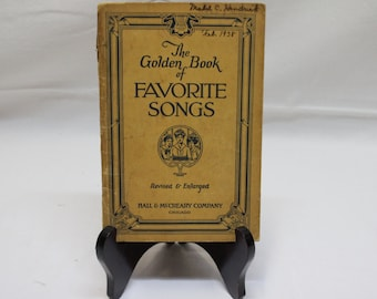 The Golden Book of Favorite Songs | Hall & McCreary Company - 1923 Publication