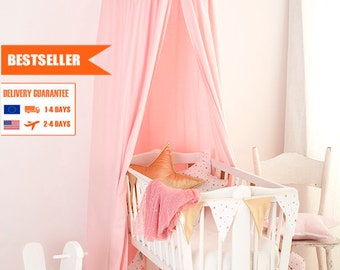 Canopy Pink Frill, Tent canopy, Bed Canopy, Crib Canopy, kids canopy, Play room canopy