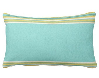 Outdoor Pillows, Stripe Outdoor Pillows, Outdoor Chair Pillows, Turquoise Outdoor  Pillows, Outdoor
