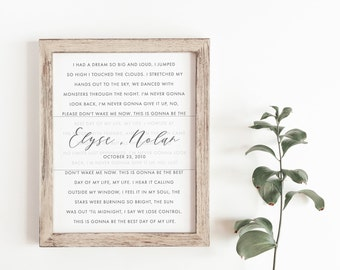 Song lyric frame etsy wedding song print first dance song wedding song lyrics song lyric art stopboris Images