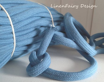 3 meters Cotton Rope 10 mm Blue Cotton Cord With Filling for Crafts Jewellery Decorations