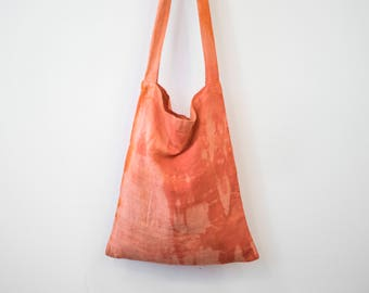 Linen Hand Dyed Shibori Tote Bag