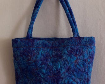 Quilted Blue Tote