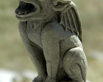 Babygoyle- gargoyle sculpture- gothic architectural ornament- Cast Shadows Studio- Richard Chalifour