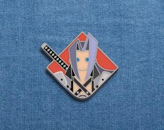 "Final Fantasy Enamel Pin - Sephiroth - FFVII Soft Enamel Pin - 1"" x 1.10"" - FF7 - Video Games - Lapel Pin - Nerd - Geek - Cool Pins"