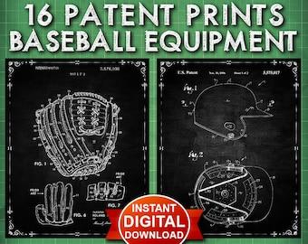 Baseball Decor Sports Patent Prints Set ( Instant Digital Download Set ) Sports Wall Art - Wall Decor - Baseball Decor- Baseball Art - 1502