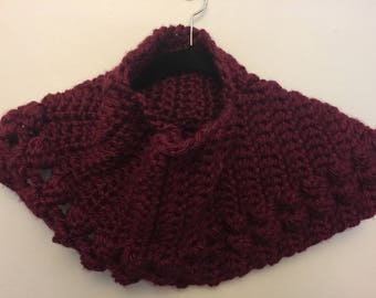 Cowl Scarf, Deep Red