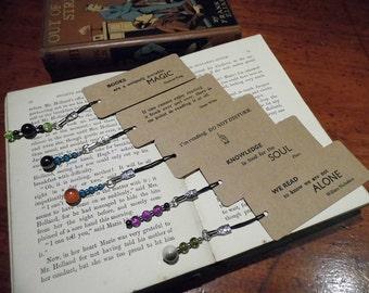 Letterpress small bookmark quote - Plato Oscar Wilde William Nicholson Do not Disturb You are Here