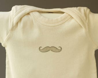 Movember baby t-shirt, Black moustache, baby shower gift, for babies about 6 months