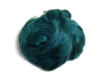 1 oz  Silk Roving ,color Ireland