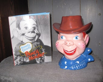 OmG - Howdy Doody Pencil Holder by Leadworks - 1988 - with Box