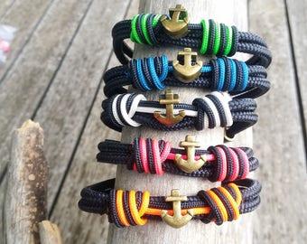 Pulsera para hombre de ancla - Anchor bracelet - Nautical bracelet - pulseras náuticas