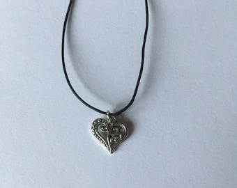Handmade Heart Tibetan Silver Necklace Choker