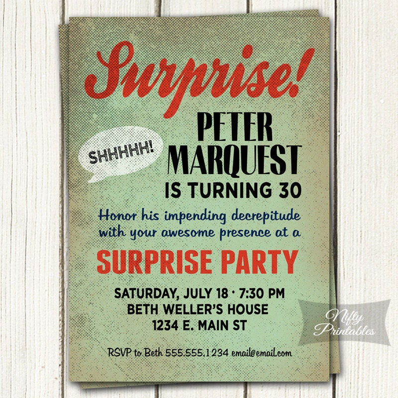 Surprise birthday invitation printable bday surprise party zoom filmwisefo Image collections