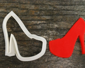 Platform Heels Cookie Cutter, Mini and Standard Sizes, 3D Printed