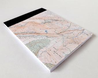 Mynydd Gwengraig - Snowdonia (Dolgellau) Map 1984 #11 - Recycled Vintage Map Handbound Pocket Notebook with Upcycled Blank Pages