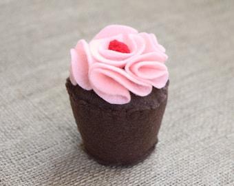 Felt Cupcake - Pretend Play, Birthday Gift