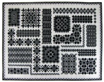 Embroidery KIt: Hapsburg Lace Mosaic Sampler Hand Embroidery Kit