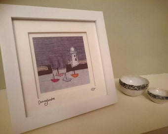 Original textile art lighthouse
