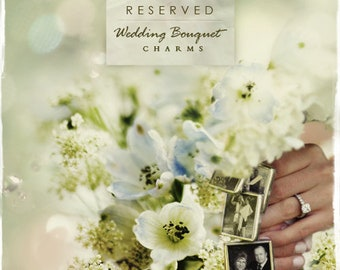 Custom made option  for Wedding Bouquet Charms
