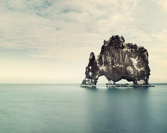 Iceland Landscape Photography, Modern Ocean Wall Art Print, Nature Photography Print, Beach Decor, Landscape Print, Minimalist Art