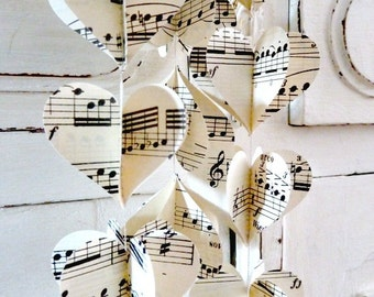 Music themed wedding etsy music teacher gift music mobile music party decorations paper garland music themed junglespirit Image collections