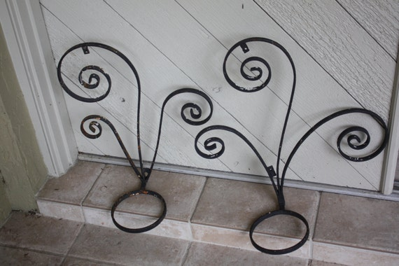Items Similar To 2 Vintage Wrought Iron Metal Hanging