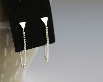 Front to Back Triangle & Chain Earrings